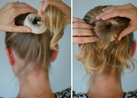 Пучки из волос средней длины