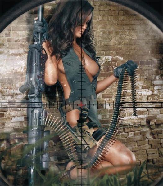 Голые телки из вестернов с оружием