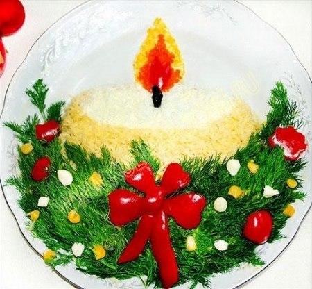 Как украсить красиво салаты фото для нового года