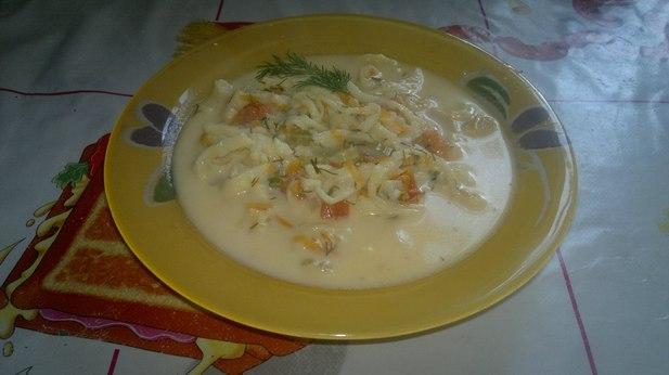 Сырный супчик с домашней лапшой - Кулинария