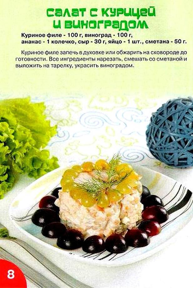 Рецепты блюд салатов