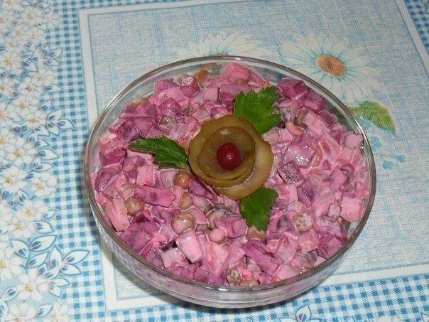 Рецепт салата со свеклой и соленым огурцом рецепт