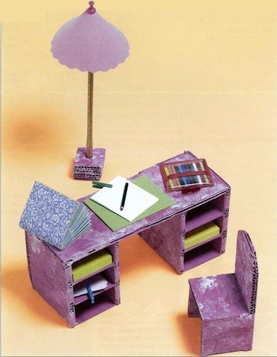 Лёгкая мебель для кукол своими руками