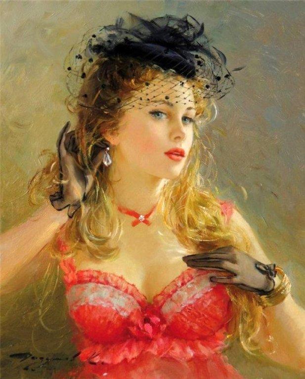 Картины своими руками балерина с вуалью