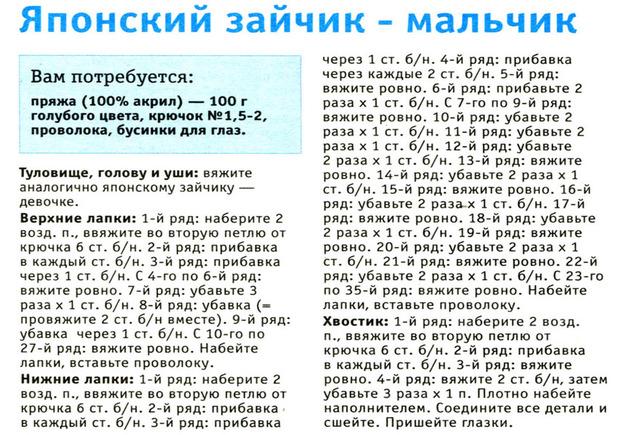 Вязание амигуруми (плохо, что нет рисунка).  Нашла на просторах инета, спасибо автору.  - Блоги MyPage.Ru.