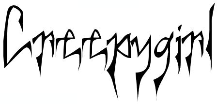 Симпатичный шрифт spookymagic