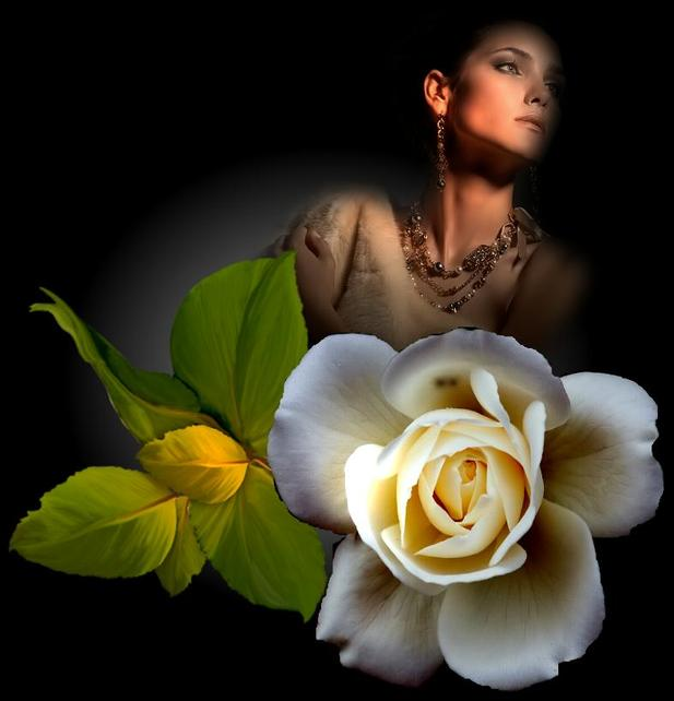 Девушки и белые цветы
