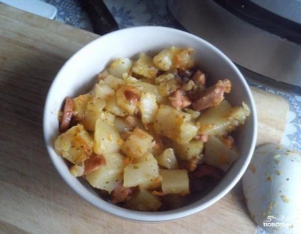 Картошка с сардельками в мультиварке рецепты с фото