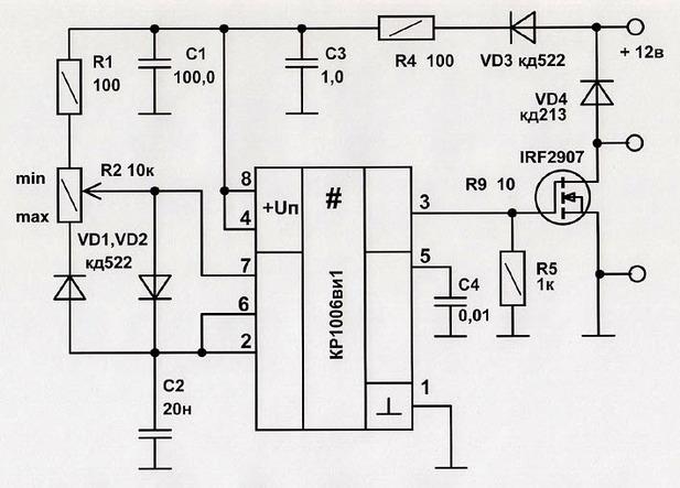 Схема регулятора двигателя 12 в своими руками