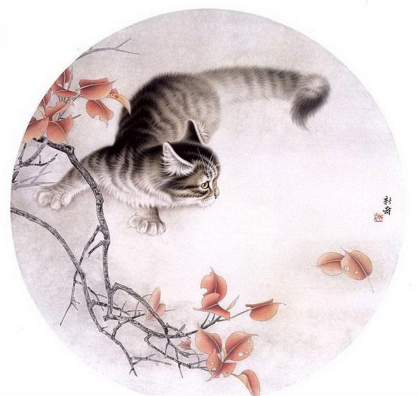 Коты и кошки в японском стиле