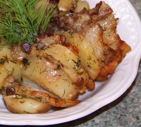 Рецепты блюд из картофеля и сала