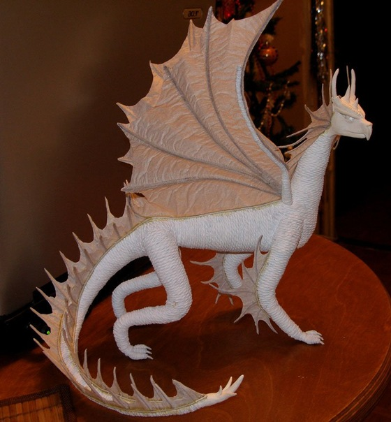 Дракона своими руками из папье маше