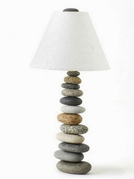 Stone amp Beam Ceramic Geometric Table Lamp 25H with Bulb