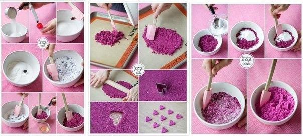 Как сделать цветной сахар для ваты