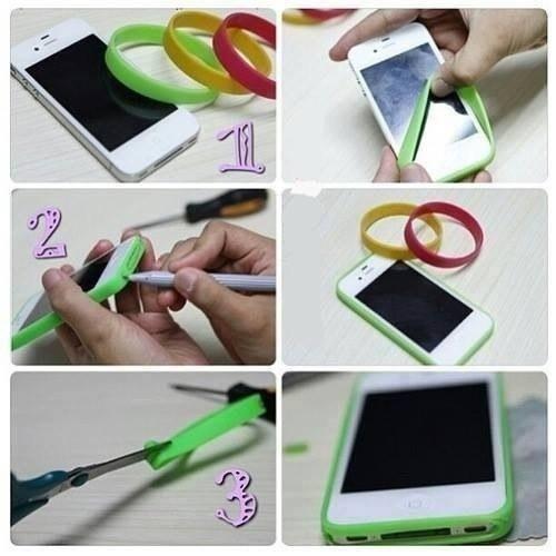 как сделать чехол с открытым экраном для телефона своими руками фото