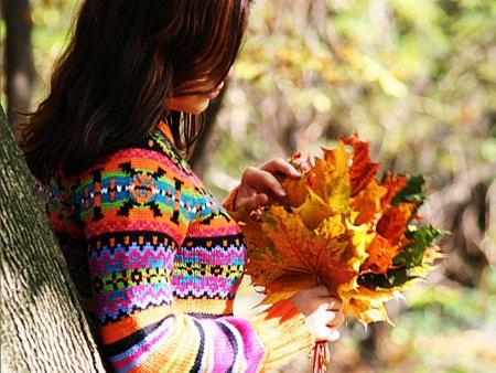 фото дівчина осінь