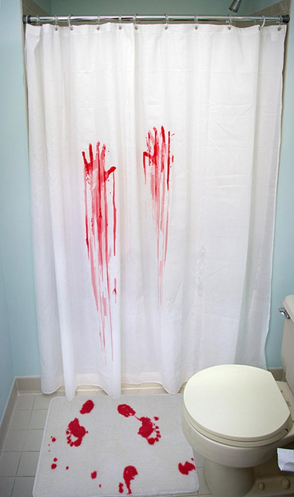 Unique bathroom shower curtains