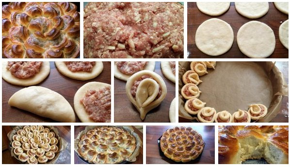 Пирожки с мясом из дрожжевого теста рецепты в духовке
