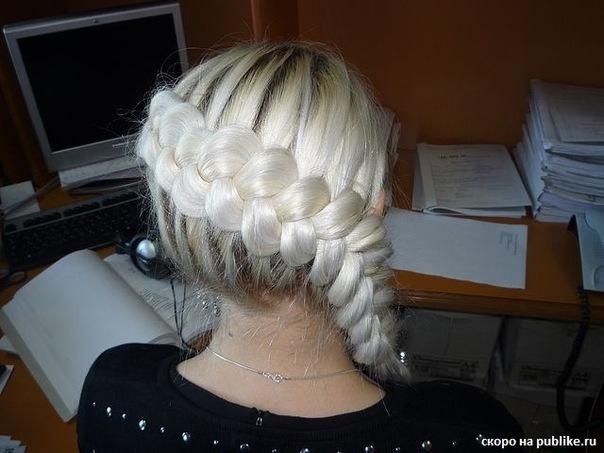 плетение кос в домашних условиях.