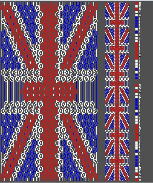 фенечки схемы прямое плетение.