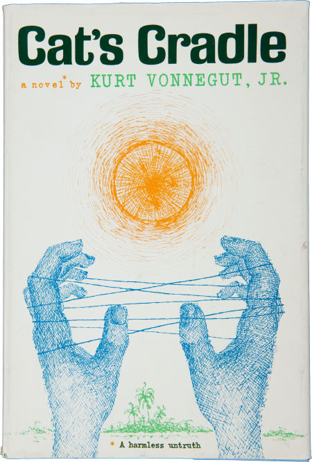 kurt vonneguts novel cats cradle essay Essay about kurt vonnegut's cats cradle analysis cat's cradle by kurt vonnegut is a science fiction book that was published in 1963 the book is (falsely thought to be)centered around the narrator, john, and his quest to write a book about what was happeneing with the creators of the atomic bomb the day the first bomb was dropped.