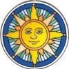 """Предпросмотр схемы вышивки  """"Подушка  """" солнце."""