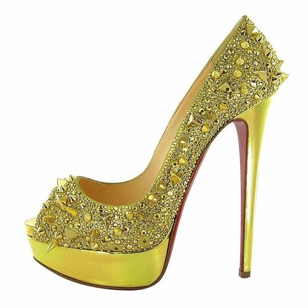 Туфли На Высоком Каблуке Со Стразами