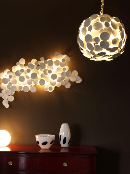 Дизайнерские необычные светильники своими руками