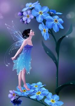 Благоухающие незабудки.  Божественный аромат покорил женское сердце.