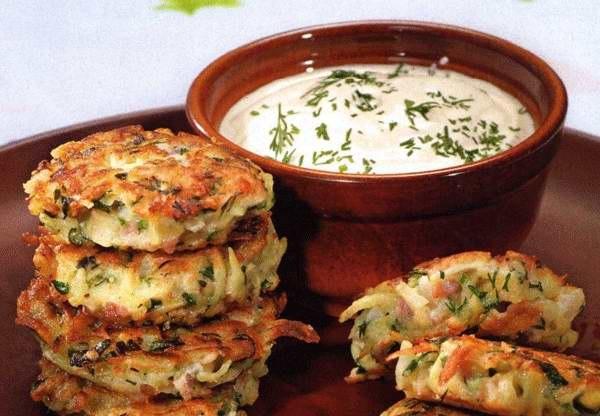 Драники с ветчиной сыром и зеленью рецепт