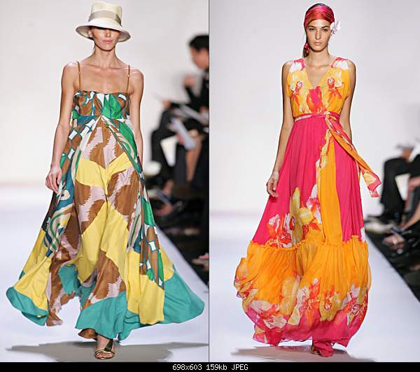 Выкройки платьев: длинное платье с высоким декольте 225.