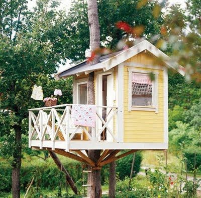 Дом на дереве для ребенка фото
