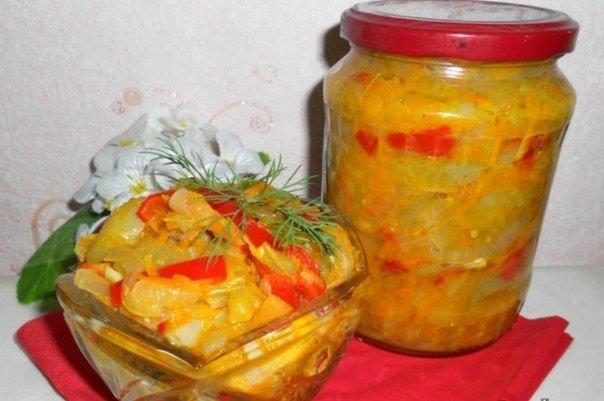 Заготовки из зеленых помидор на зиму салат