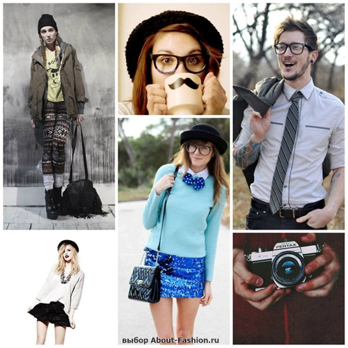 Hipster fashion collages