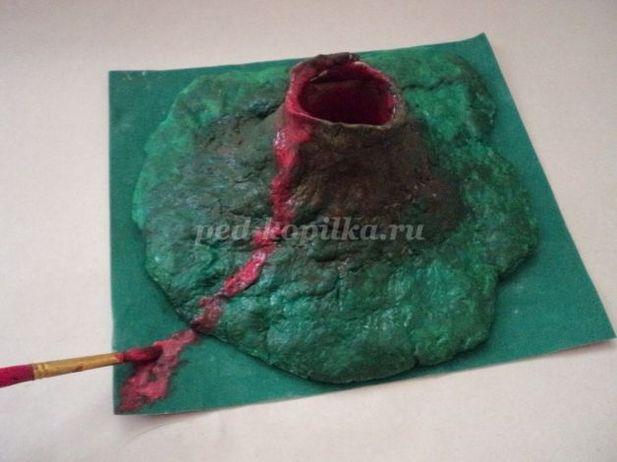 Как сделать макет вулкана своими руками из подручных материалов 632