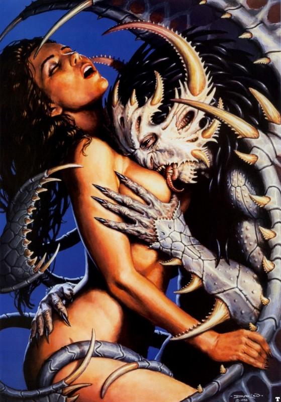 Секс женщины с демонами
