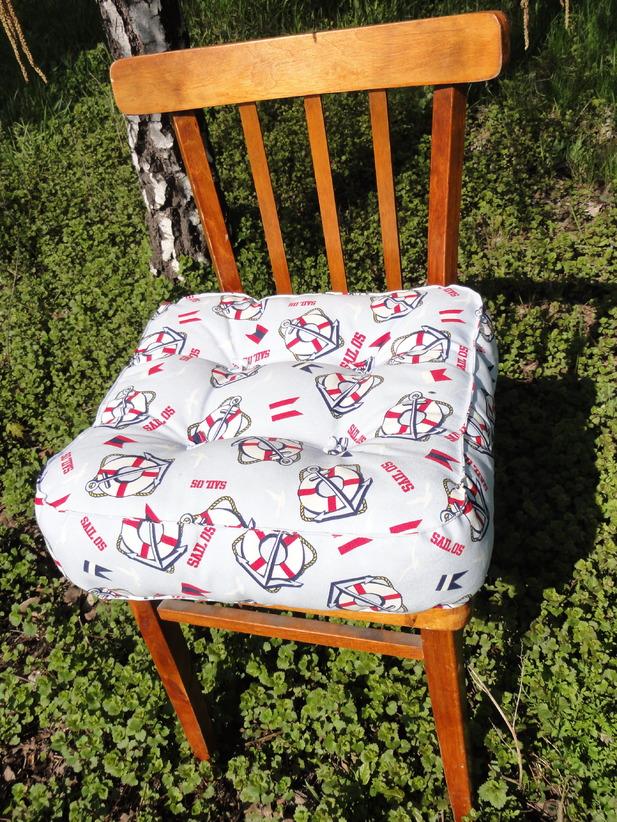 Сидушки и подушки на стулья своими руками