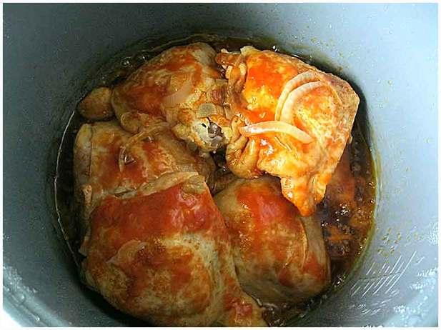 Курица в мультиварке рецепты с фото с яблоками