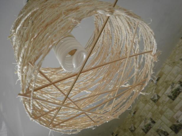 Как сделать абажур из ниток