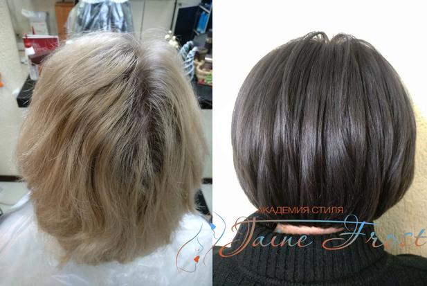 Тонирование волос красноярск
