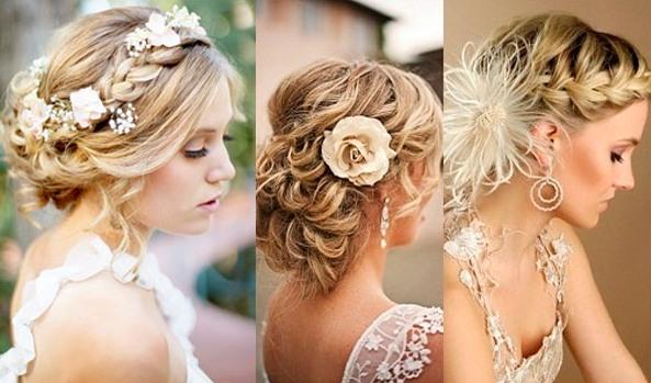 Свадебные причёски на средние волосы с косами