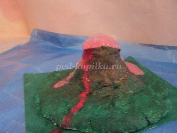 Макет вулкана из соленого теста своими руками 61
