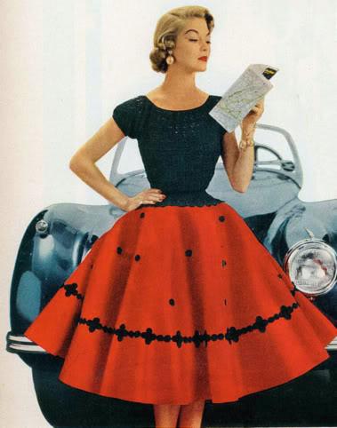 Причёски 50-60-х годов платья