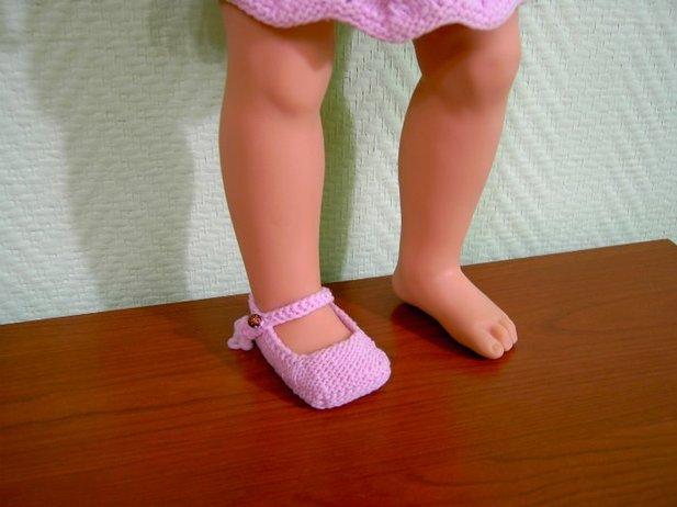 Обувь для куклы связать своими руками