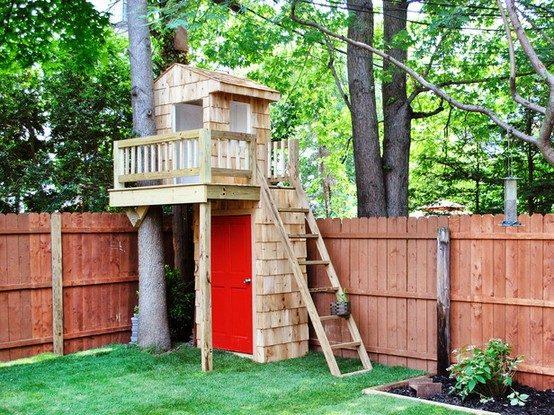 Дом на дереве на даче своими руками