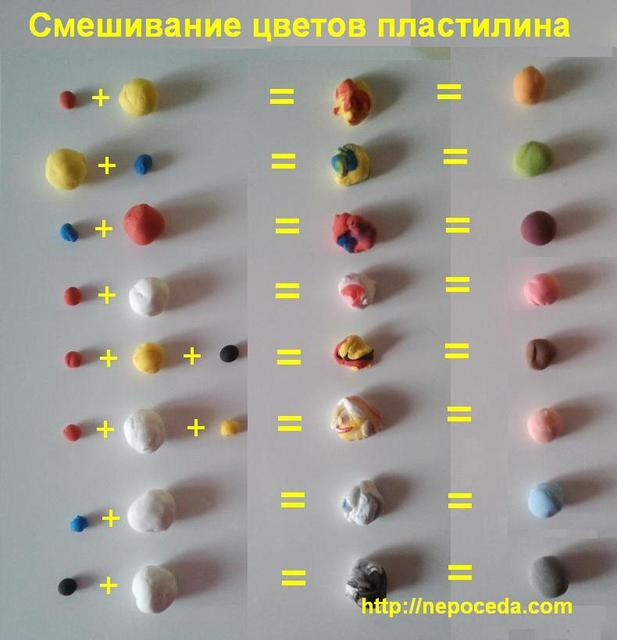 Как из пластилина сделать цвет