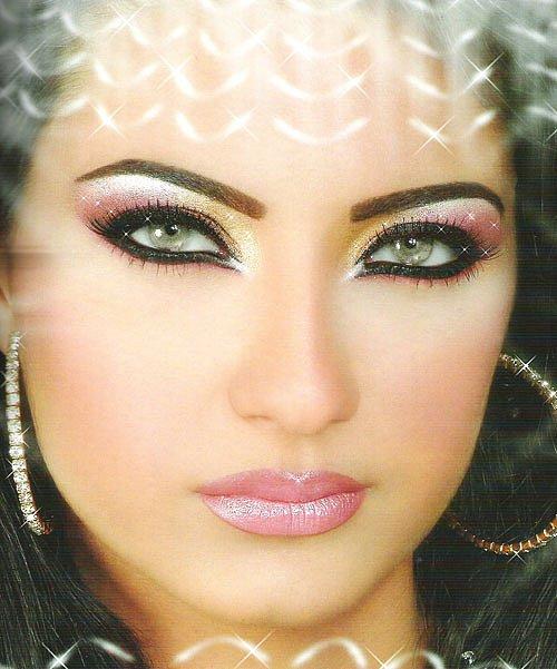 Сексуальный арабский макияж глаз