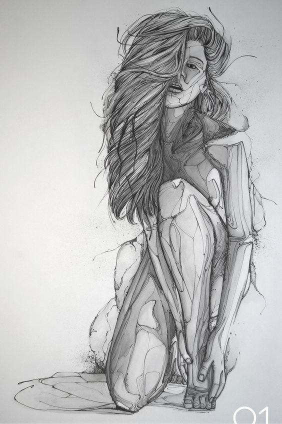 Рисунки голая