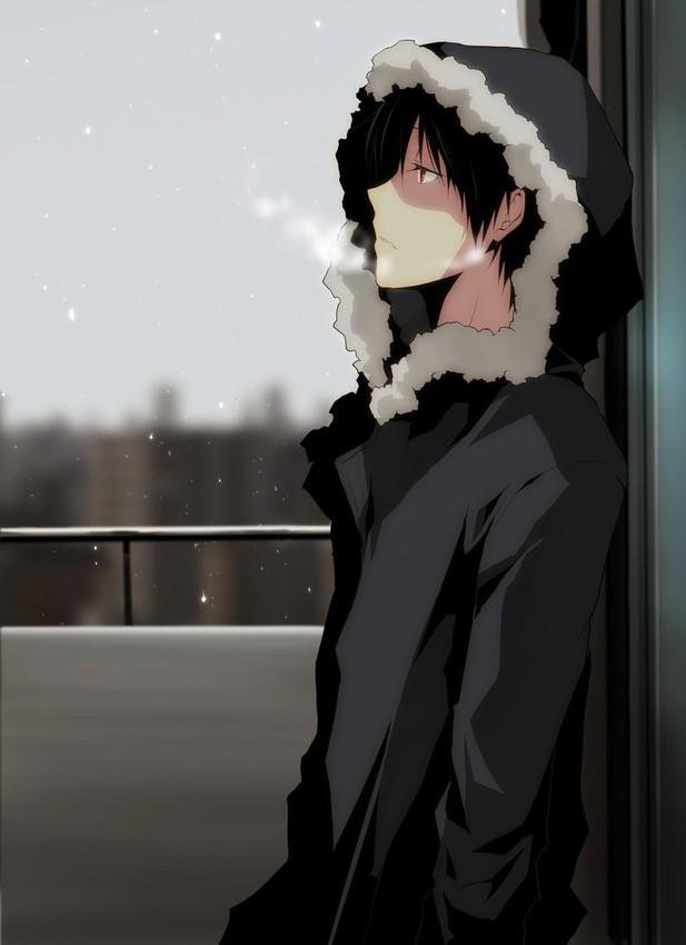 Картинки грустные парни аниме