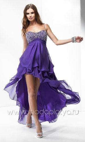 Платья спереди короткие сзади длинные вечерние фото